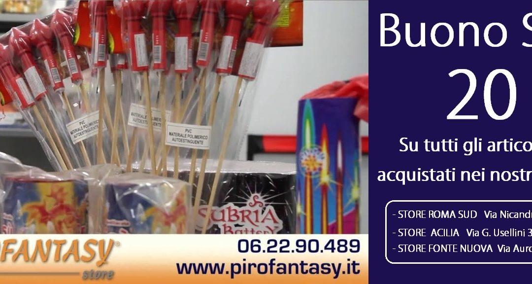 Buono Sconto Pirofantasy Store Roma